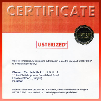 Usterized Certification