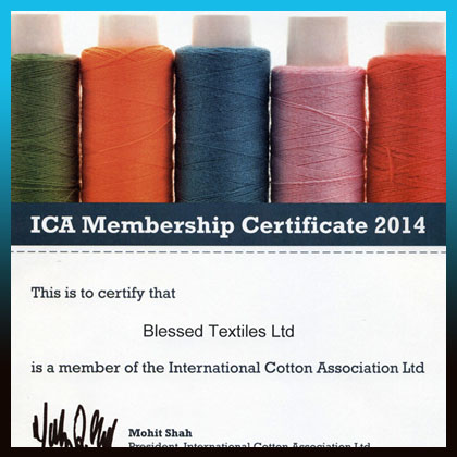 ICA Memembership Certificate 2014 Blessed Textiles Ltd.
